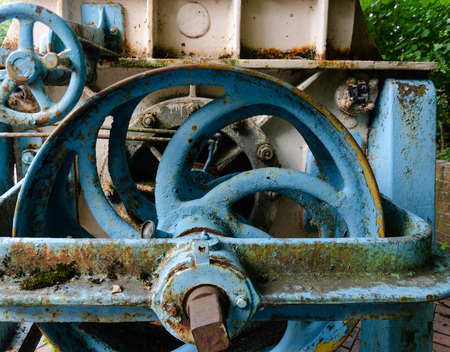 Old industrial machinery which has been abandoned Stock Photo