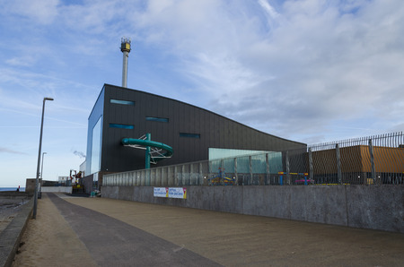 Rhyl, UK. January 9, 2019. The new SC2 at Rhyl overlooks the promenade on the seafront. The SC2 replaces Rhyl's original Sun Centre. Editorial