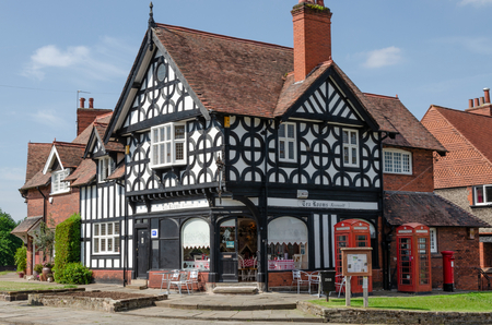 Port Sunlight, UK: June 6, 2018: A model village built to house workers of the adjacent Lever Bros soap factory.