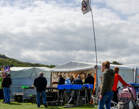 Llandudno, UK - May 6, 2019: The Llandudno Transport Festival 2019 saw a large turnout of visitors whe enjoyed the vaerious displays. Llantransfest is held alongside the annual Victorian Extravaganza.
