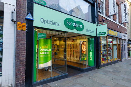 Chester, UK: Mar 1, 2020: The national chain of opticians, Specsavers, operate a branch on Northgate Street. Editorial