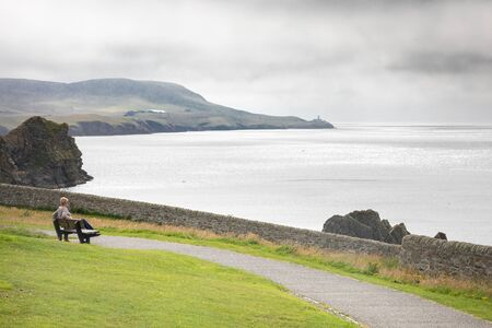 A view from Lerwick golf course overlooking the North Sea. Zdjęcie Seryjne