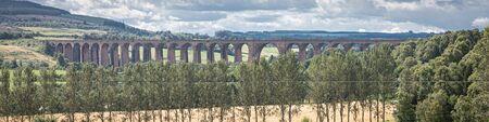 The Glenfinnan railway viaduct in Scotland.