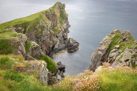 A landscape view of the cliffs in Skye, Scotland.