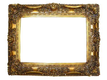 Gilded Gold Photograph frame with carvings and gold details