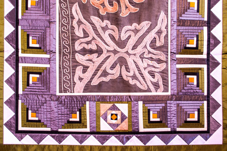tapestry: Muslim Wall Tapestry in Detail Stock Photo