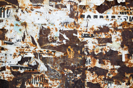 torn metal: Rust and metal torn posters and paper texture pattern