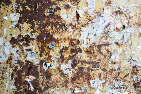 oxidising: Rust and paper texture with grime and dirt
