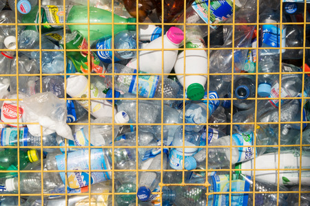 Collection of plastic PET Bottles ready for recycling Stok Fotoğraf