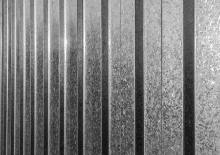 stainless steel sheet: Abstract black and white stainless steel fencing sheet in sunlight