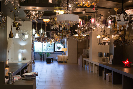 home lighting: Modern home lighting shop in Ufa Russia in the summer of 2015