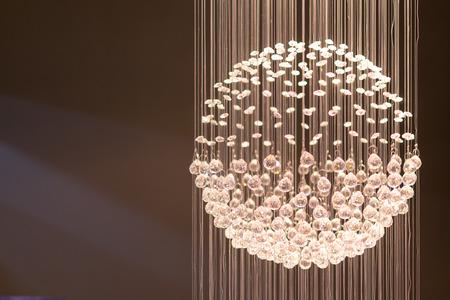 light display: Single crystal light display with shards of illuminated string