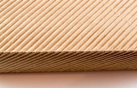 Ondulé de style emballages en carton texture en gros plan