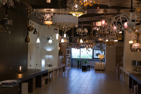 home lighting: Modern home lighting display shop in Ufa Russia in the summer of 2015