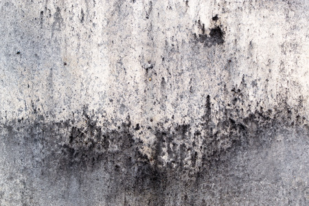 soot: Soot grimed concrete wall with smoke runs and burnt details Stock Photo