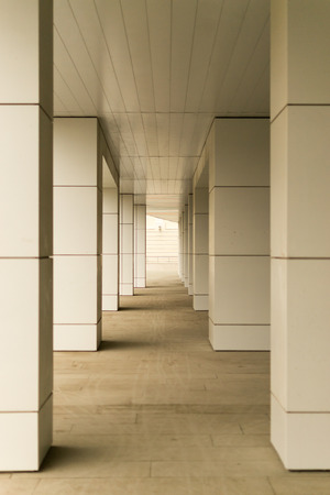 diminishing perspective: Modern style building blocks supported with diminishing perspective