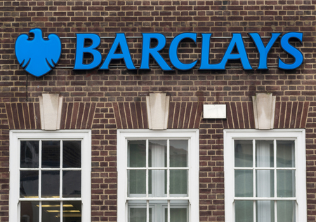 financial official: 23rd August 2015 - Witham - Barclays Bank on the High Street in Witham provides customers with BLAH BLAH BLAH Editorial