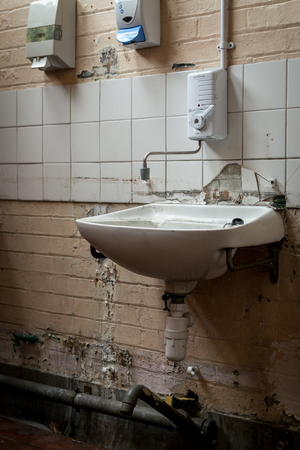 Ruined Toilet With Damaged Home Appliances, Indoor Shot Foto Royalty ...