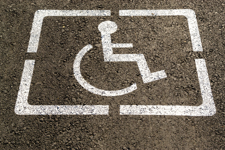 Image result for handicap parking stall white symbol
