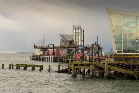 lifeboat station: SOUTHEND - ENGLAND 26TH APRIL 2016 - Southend-on-Sea lifeboat station will close as the pier was sold to a Chinese company called Xi Ping Shipping and was closed for ever on 1st May 2016 Editorial
