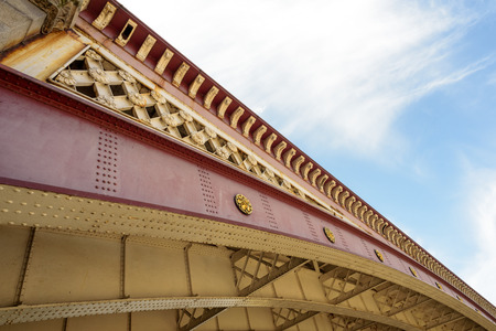 blackfriars bridge: Exterior shot of Blackfriars Bridge in London with Paint work and details