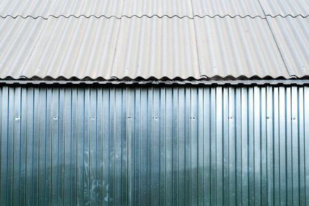 Sheet Metal Aluminum In Silver Color Often Used For Fencing,.. Stock ...