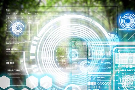 Augmented Reality device using smart technology, mixing virtual and augmentation reality through the application of artificial intelligence and computer AI tech assistance for forest walking and navigation