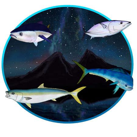 Pacific ocean island gamefish