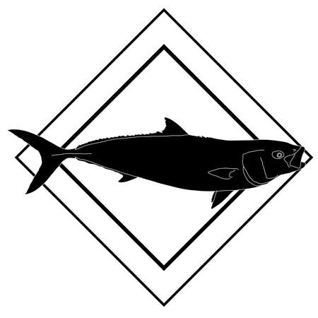 Yellowtail with a diamond design