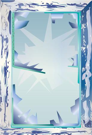 Icy cold broken window. Imagens - 44263323
