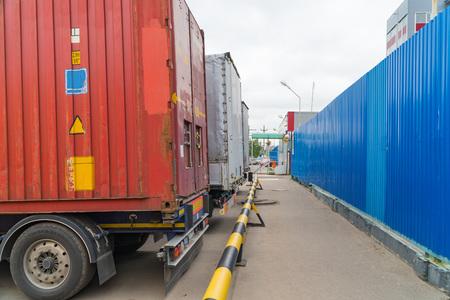 Vervoer van ladingcontainers.