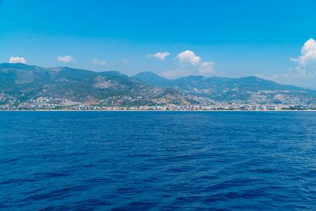 Views of the Mediterranean coast. Mountainous terrain