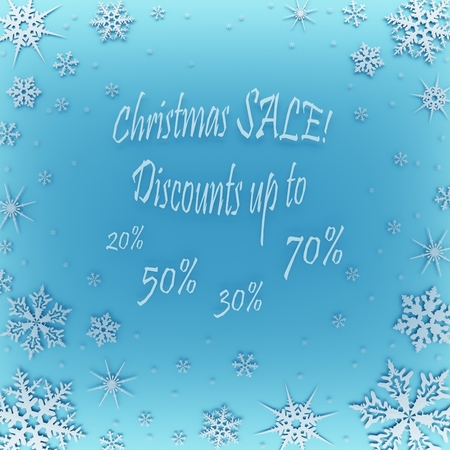 Christmas coupon for a discount in the store. Stock Photo