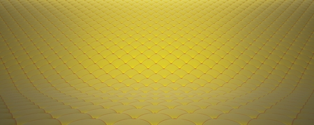 Quilted fabric surface. Yellow velvet and orange velvet.
