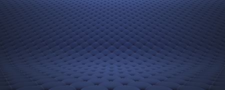 Quilted fabric surface. Festive blue corduroy. Stockfoto