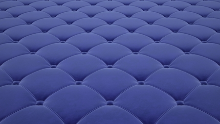 Quilted fabric surface. Light blue velvet.
