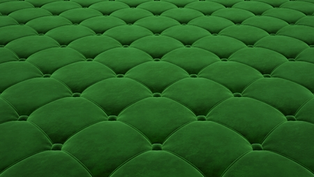 Quilted fabric surface. Festive green corduroy.