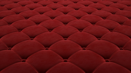 Quilted fabric surface. Festive red corduroy. Stockfoto