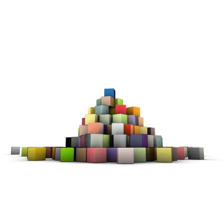 large stack of colored cubes Stock Photo - 6926777