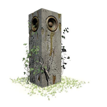 monument speaker sound system jungle woofer DJ Stock Photo