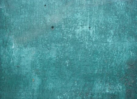 worn peeling blathering turquoise paint on wood Stock Photo - 7040645