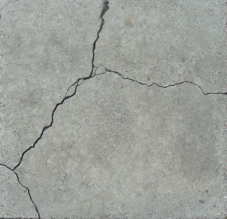 elegant split crack in gray stone                                   photo