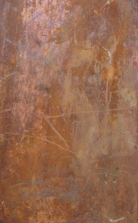 large slate of rusted metal                                Stock Photo