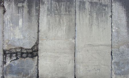 ranked: ranked ranged dirty heavily worn industrial large vertical concrete slabs