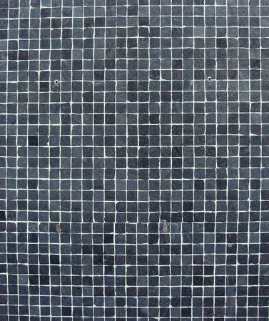 mosaic tiles: wall with blue gray black mosaic tiles