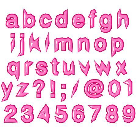 though: pink punk techno eighties alphabet