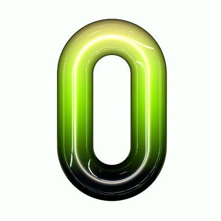 green shiny glossy 3d child funny bubble alphabet font O Stock Photo - 7434721