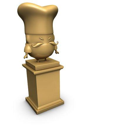 bronze number 3 cook chef trophy