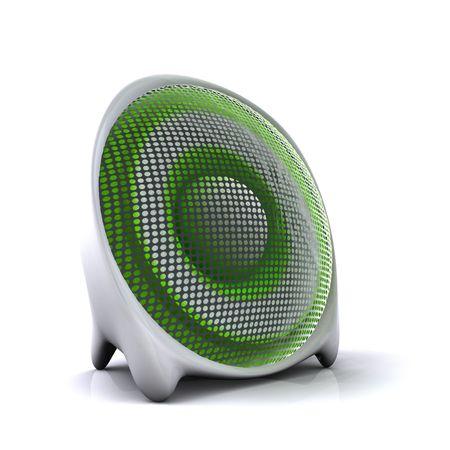 cute green 3d sound system speaker  photo