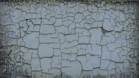 rectangular grunge worn surface with cracked paint                                Stock Photo